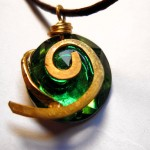 Legend of Zelda Kokiri Forest Emerald Necklace