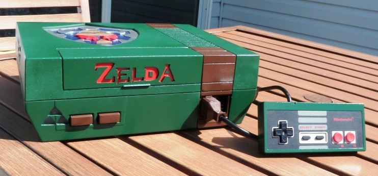 Legend of Zelda NES Console Mod Front