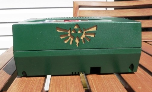 Legend of Zelda NES Console Mod Side