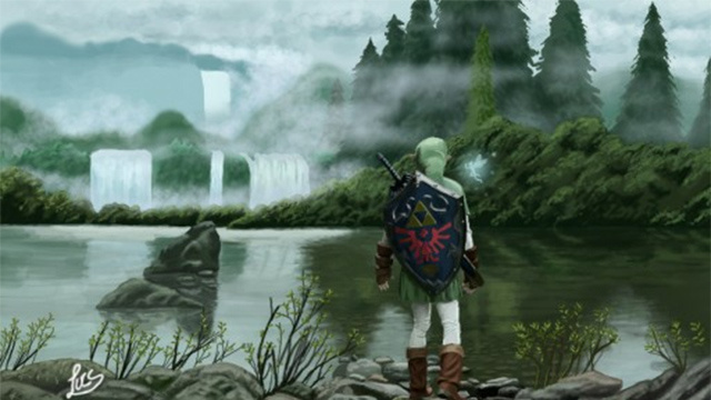 Legend of Zelda Picture Made on a Nintendo 3DS