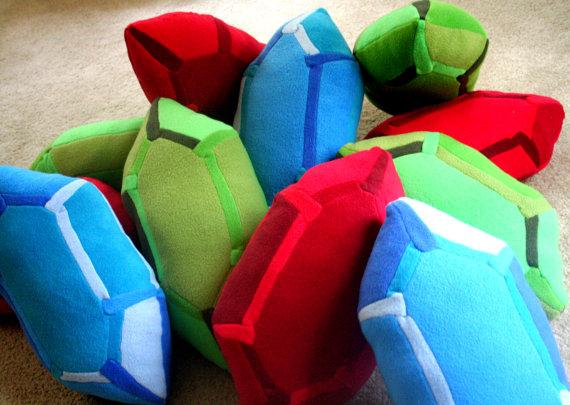 Legend of Zelda Rupee Pillows