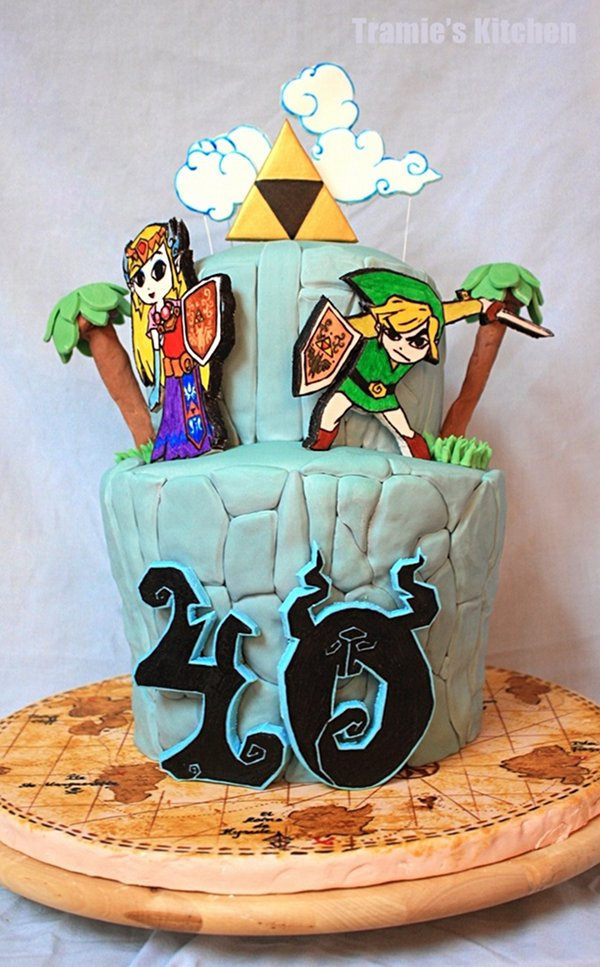 Fantastic Legend Of Zelda Wind Waker Birthday Cake Pic