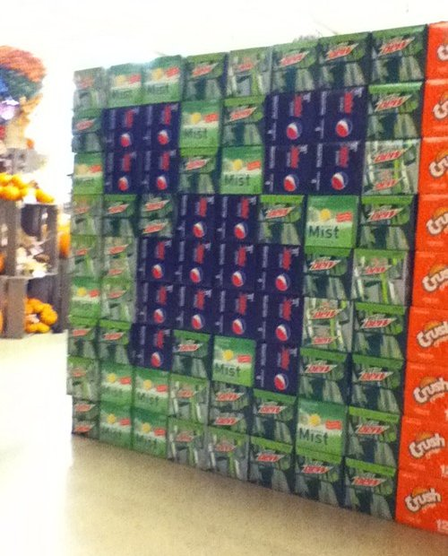 Minecraft Creeper Soda Can Display