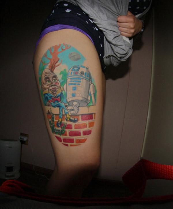 R2-D2 and Humpty Dumpty Tattoo