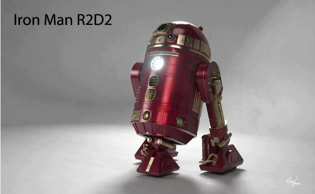 R2-D2 in Iron Man Cosplay
