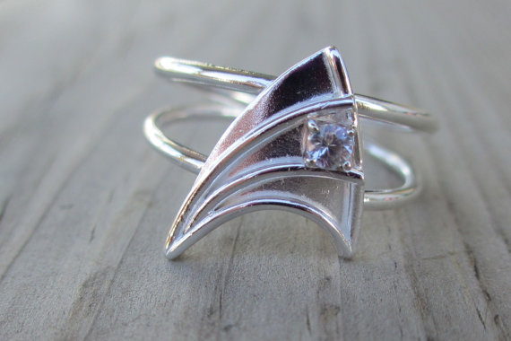 Star Trek Starfleet Insignia Engagement Ring
