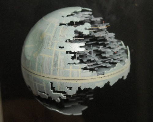 Star Wars Death Star Made from a Ping Pong Ball