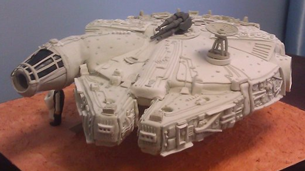 Star Wars Millennium Falcon Wedding Cake Front