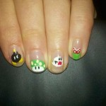Super Mario Bros Fingernail Art