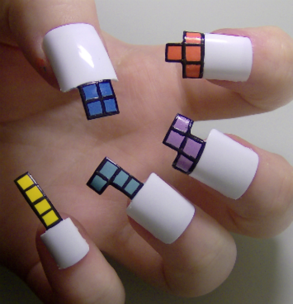 Tetris Nail Art