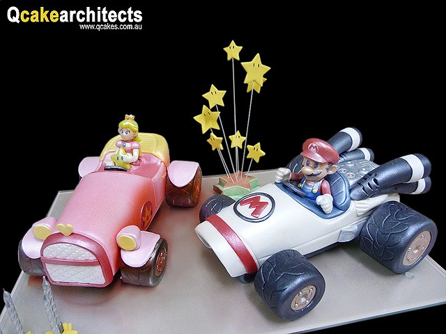 Worlds Greatest Mario Kart Cake