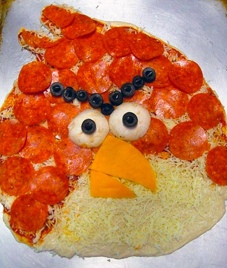 Uncooked Angry Birds Pizza