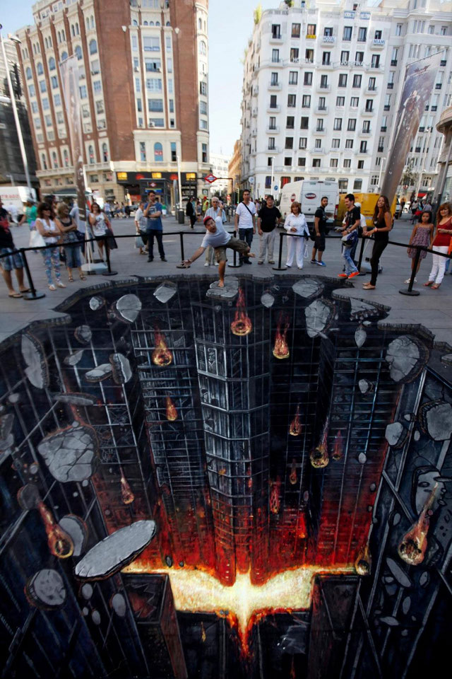 Dark Knight Rises 3D Street Art