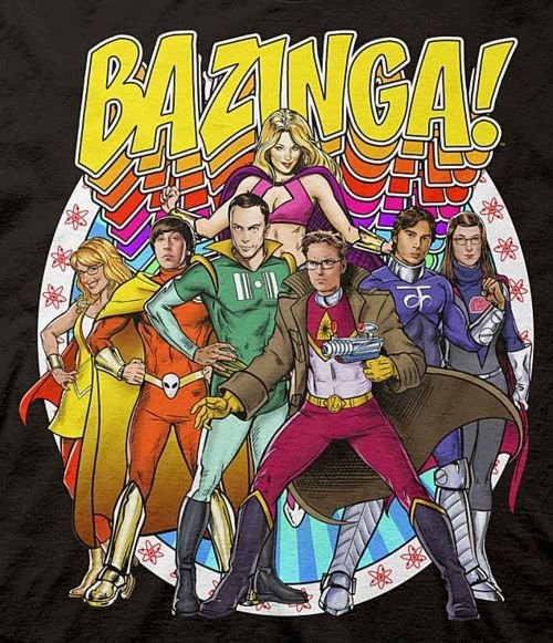Big Bang Theory Characters as Superheroes