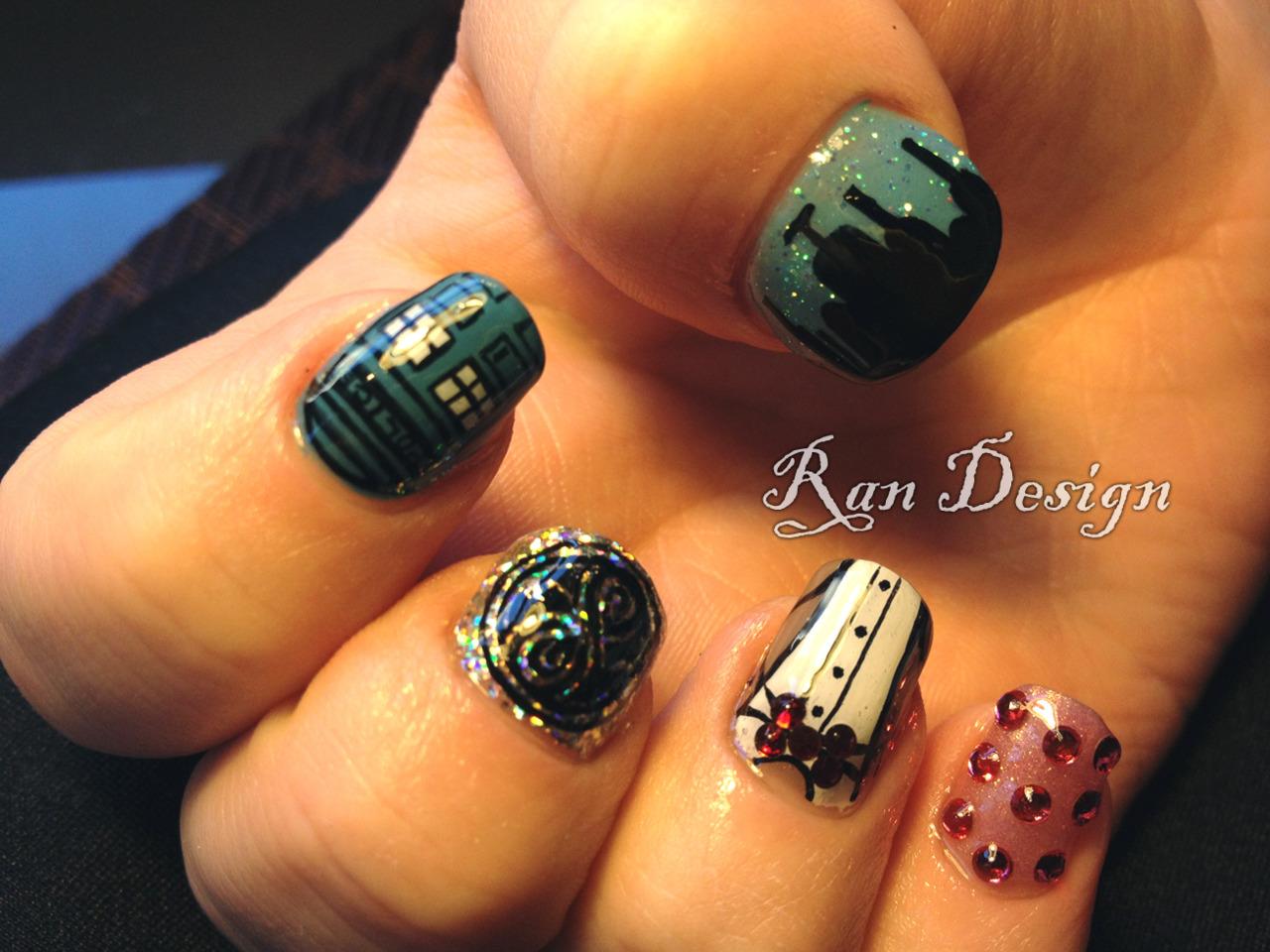 Amazing doctor who fingernail art pic global geek news doctor who fingernail art prinsesfo Choice Image