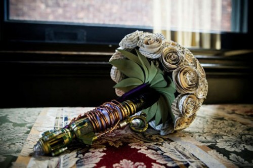 Sonic Screwdriver Wedding Bouquet