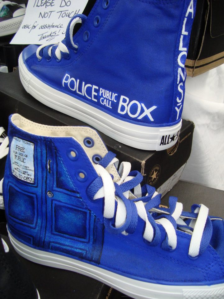 Dr Who Dalek painted shoes by Whitelicorice on DeviantArt