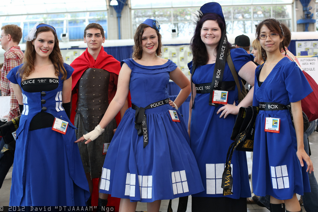 Doctor Who TARDIS and Rory Cosplay