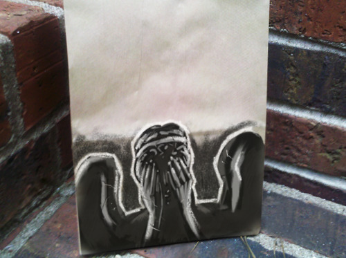 Weeping Angel Lunch Bag Art