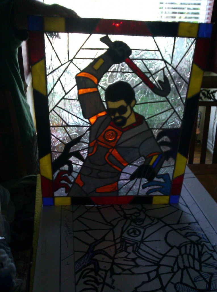 Half Life Gordon Freeman Stained Glass