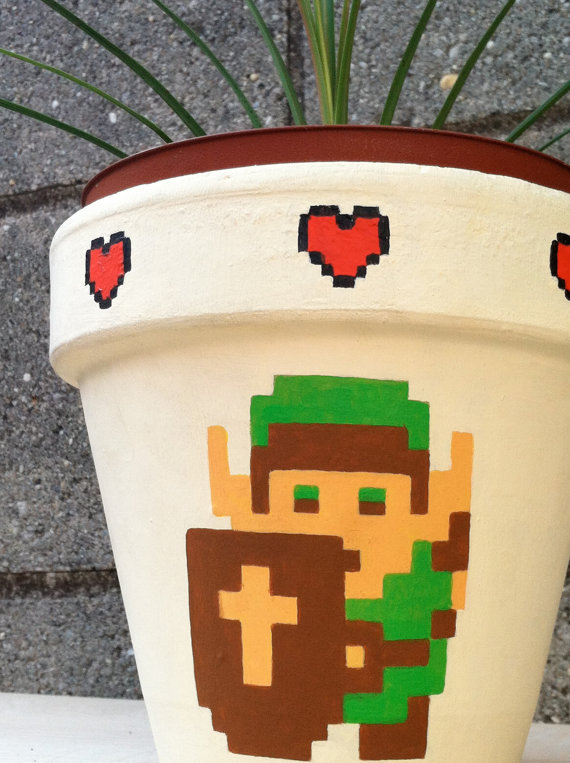 Legend of Zelda Flower Pot