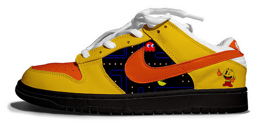 Pac-Man Nike Dunks Tennis Shoes