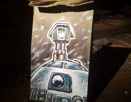 Star Wars R2-D2 Lunch Bag Art