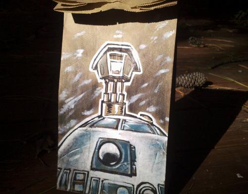 Star Wars R2-D2 Lunch Bag Art