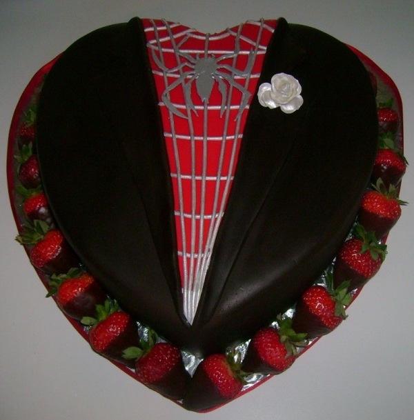 Spider-Man Grooms Cake