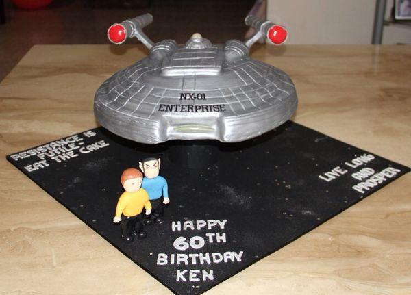 Star Trek Enterprise NX-01 Birthday Cake