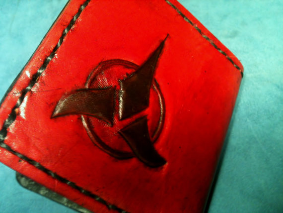 Klingon Leather bi-fold Wallet