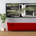 USS Enterprise 1701-D Star Trek LCARS Display Print [pic]