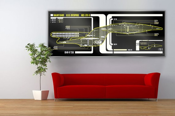 Star Trek USS Enterprise-D LCARS Display Print