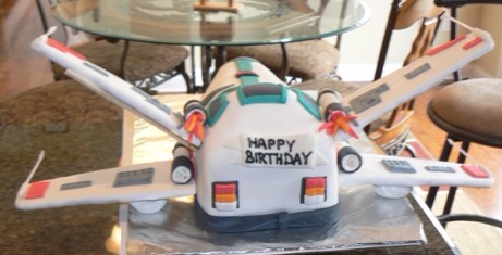 Star Wars X-Wing Starfighter Cake Back