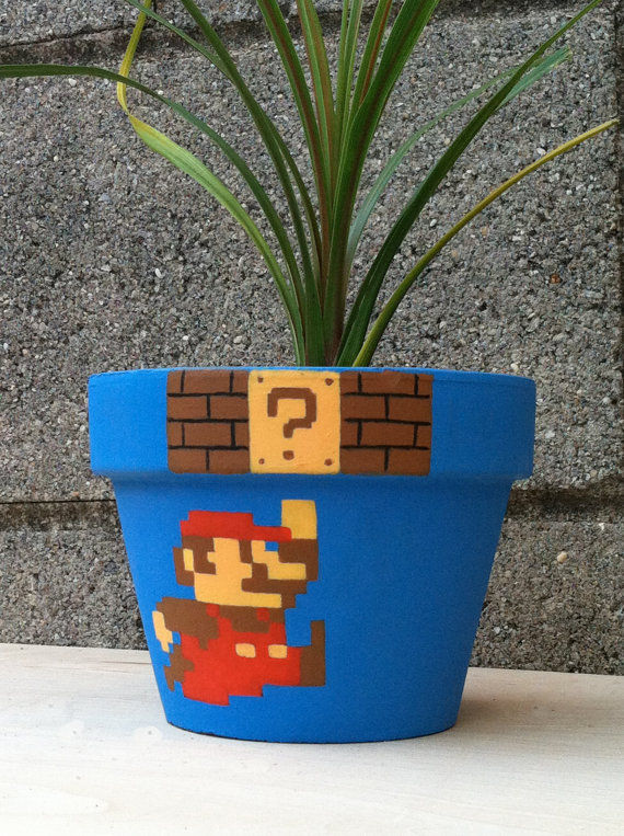 Super Mario Bros Flower Pot