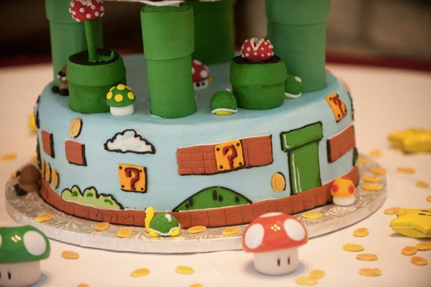 Super Mario Bros Wedding Cake Tier 1