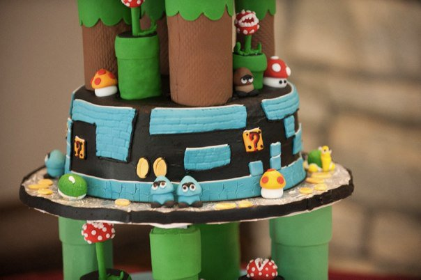 Super Mario Bros Wedding Cake Tier 2
