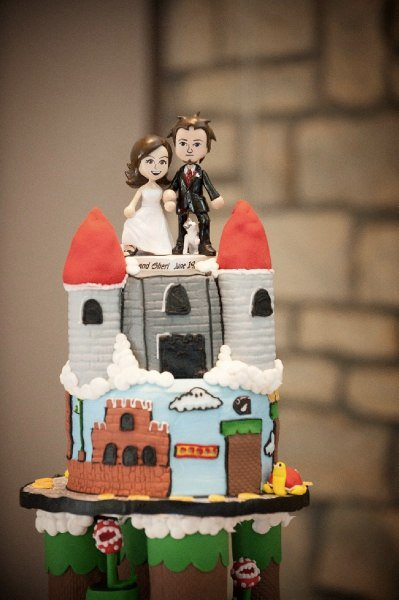 Super Mario Bros Wedding Cake Tier 3