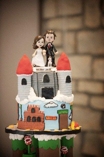 Super Mario Bros Wedding Cake Tier 3