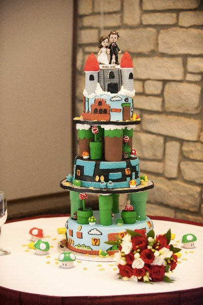 Super Mario Bros Wedding Cake