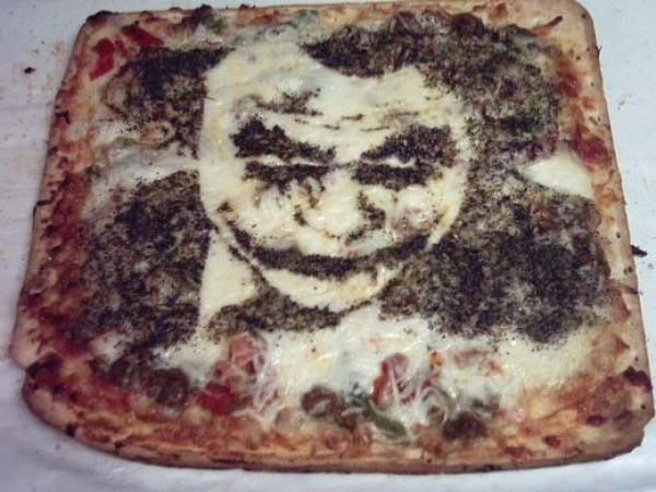 The Joker on a Pizza