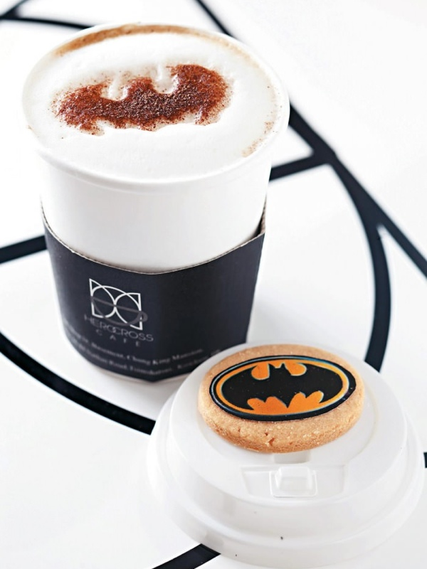 Batpuccino and Batcookie