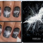 Dark Knight Rises Fingernail Art