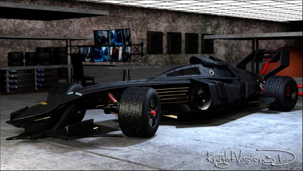 3D Concept Batmobile F1 Race Car