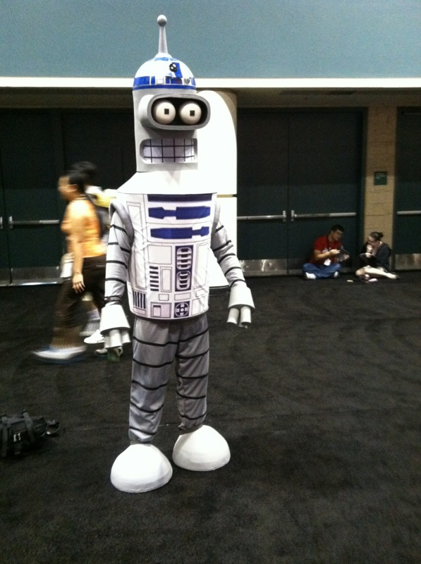 Bender Cosplaying as R2-D2