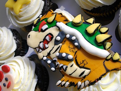 Bowser Cupcake