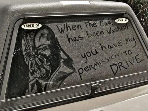 Bane Drawing on a Dirty Truck