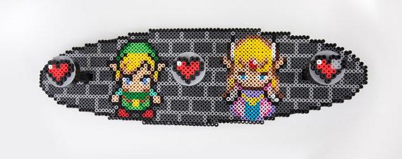 Zelda and Link Coat Rack