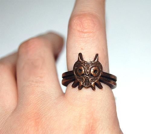 Bronze Legend of Zelda Majora's Mask Ring