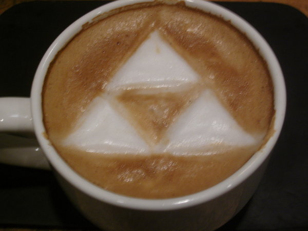 Legend of Zelda Triforce Latte Art